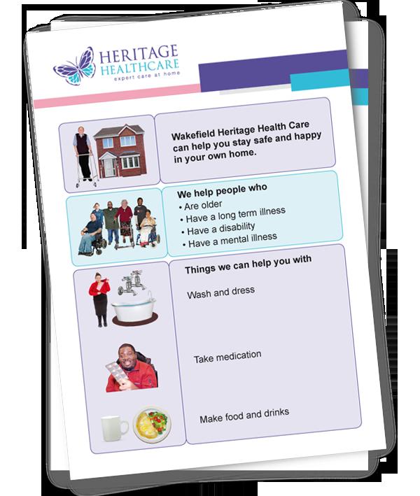 Heritage Healthcare easy read example