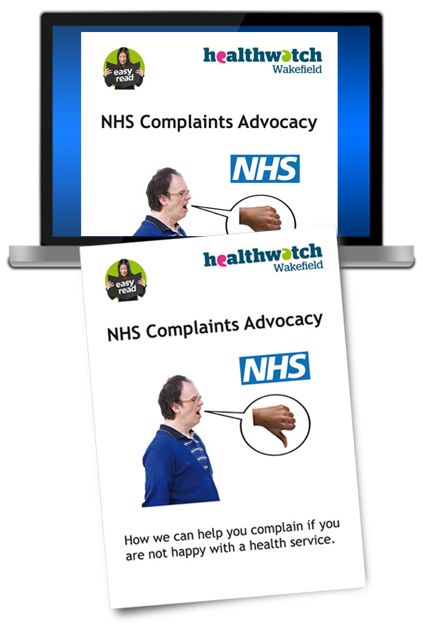 Easy Read Healthwatch Wakefield Leaflet